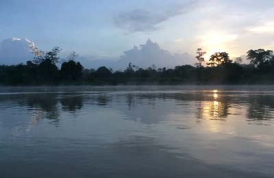 Borneo Sakau River, photo by Kay Dawkins