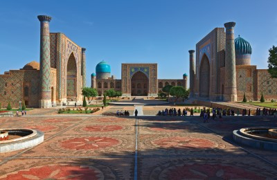 china silk road registan sq samarkand world expedtions