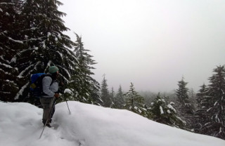 Winter Recreation on the Sunshine Coast Trail, BC