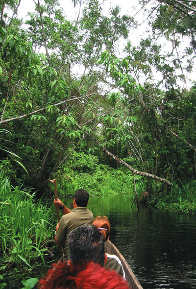 ecuador amazon canoing
